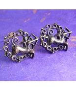 Rare PAN Centaur Mythology Cufflinks Vintage sterling Silver 30.7 Grams ... - $195.00