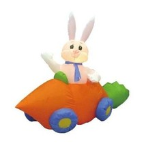Easter Inflatable Bunny Rabbit Carrot Car Lawn Spring Indoor Outdoor Decoration - $65.00
