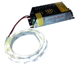 Kit: 25W Switching Power Supply + 4' LED Strip, Bright White, Hi-lumen - $15.90