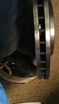 New Front Passengers Side Drilled and Slotted Brake Rotor 31455 WL image 2