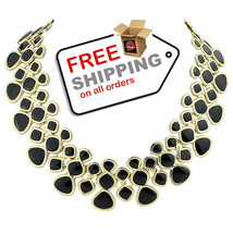 Choker Necklaces 2016 Gold Color Black Enamel Collares Creative Fashion Jewelry - $19.00