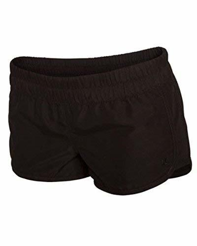 Hurley Juniors Supersuede Solid Beachrider 2.5 Inch Boardshort, Black, X-Large