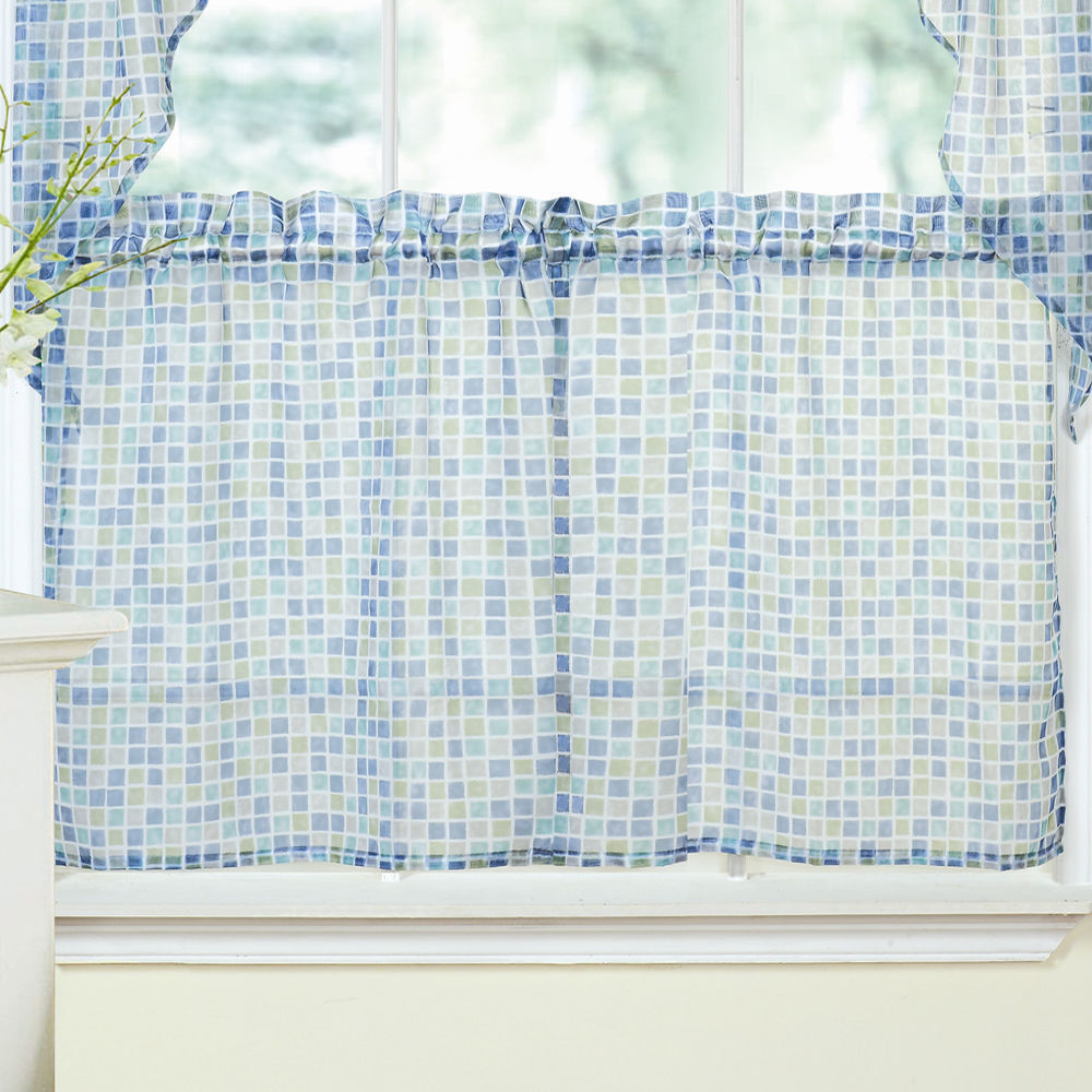 Blue Green Kitchen Curtains
