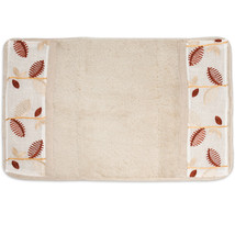 "Popular Bath Alysia Ivory Leaf Collection - Bathroom 21"" x 32"" Bathroom Rug - $26.99"