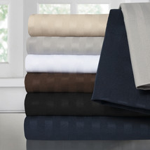 Sweet Home Collection Double Brushed Sateen Microfiber Dobby Stripe Shee... - $28.79