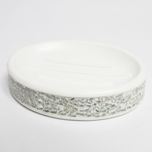 Popular Bath Luster Silver Cracked Glass Collec... - $15.29