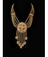 Antique necklace Dramatic Victorian Baroque Vintage fringe tassel Art no... - $425.00