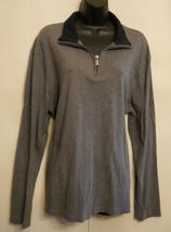 Michael Kors Designer Quarter 1/4 Zip Mens SHIRT size XL Gray Cotton Knit  - €25,47 EUR