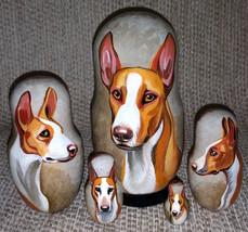 Ibizan Hound on Five Russian Nesting Dolls. Dogs. - $49.00