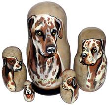 American Leopard Dog on Five Russian Nesting Dolls. Dogs. - $48.00