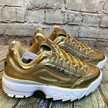 Fila Disruptor 2 Kids Gold Lace Up Sneakers Size 5 Youth - $32.34