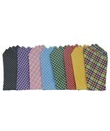 POCKET SQUARE...Gingham/Cotton...Venetian Collection - £7.26 GBP
