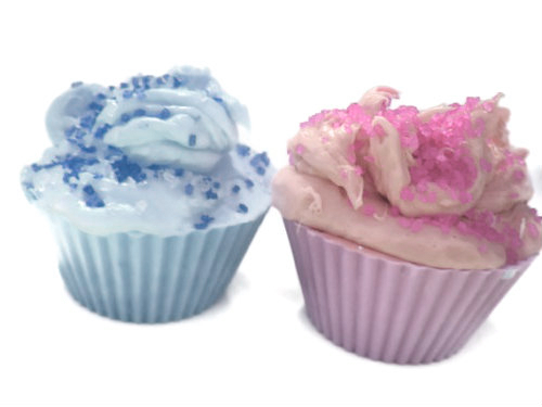 Blue and purple cupcake
