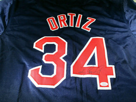 sports shoes abe31 6eb07 DAVID ORTIZ / BOSTON RED SOX / AUTOGRAPHED RED SOX CUSTOM BASEBALL JERSEY /  COA
