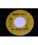 Teddy Edwards Quartet Smokin 45 Rpm Record Contemporary Label - $64.99