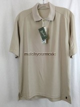 NEW Mens Short Sleeve Tan Wrinkle Resistant Wicking Shirt by WOOLRICH Sz S - $8.90