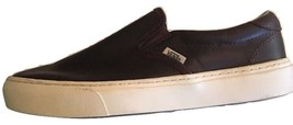 New Vans Mens 8.5 Womens 10 Atwood Buck Leather Espresso White Brown Sneakers - $80.18