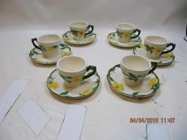 6 Vintage Franciscan Mountain Rose Demitasse Cup & Saucer Set flat Numbe... - $148.50