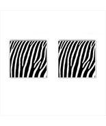 Zebra Chrome Square Cufflinks - $15.99