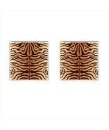 Tiger Chrome Square Cufflinks - $15.99