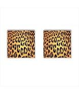 Leopard Chrome Square Cufflinks - $15.99