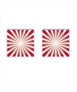 Sunburst Chrome Square Cufflinks - $15.99
