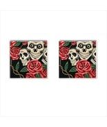 Skulls Chrome Square Cufflinks - $15.99
