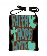 Faith Hope Love Custom Shoulder Sling Bag - $24.99