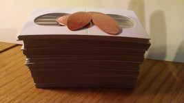 50 2x2 Cardboard Coin Holders for Elongated Pennies With 2 FREE Pressed ... - $7.89