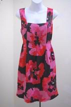 New Nine West 10 Dress Multi Color Floral Silk Sheath Sleeveless - $25.56