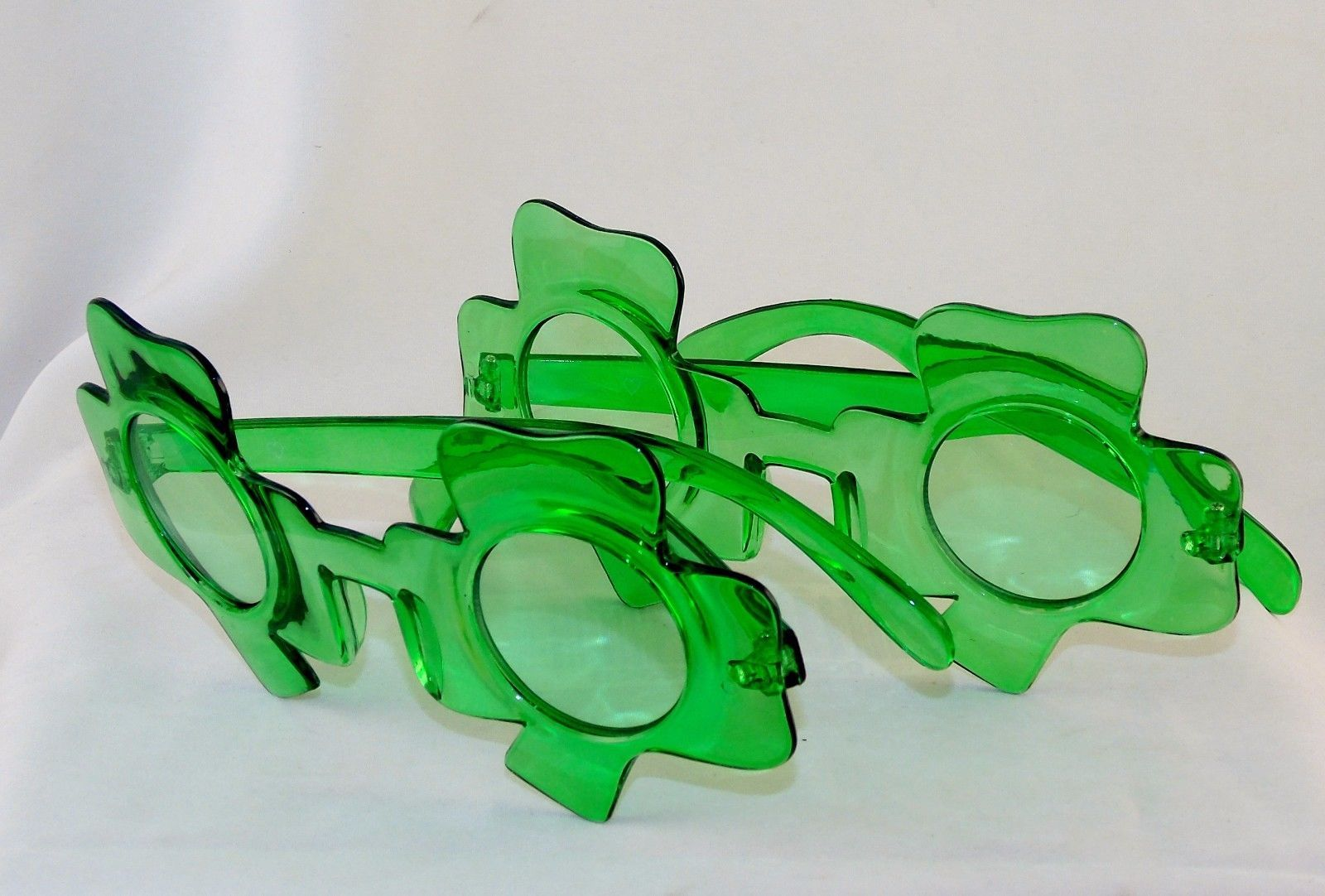 Primary image for 2 Pairs Shamrock Glasses Green Frames & Lenses ~ St. Patrick's Day Party Gear