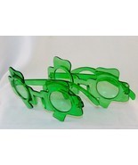 2 Pairs Shamrock Glasses Green Frames & Lenses ~ St. Patrick's Day Party... - $9.75
