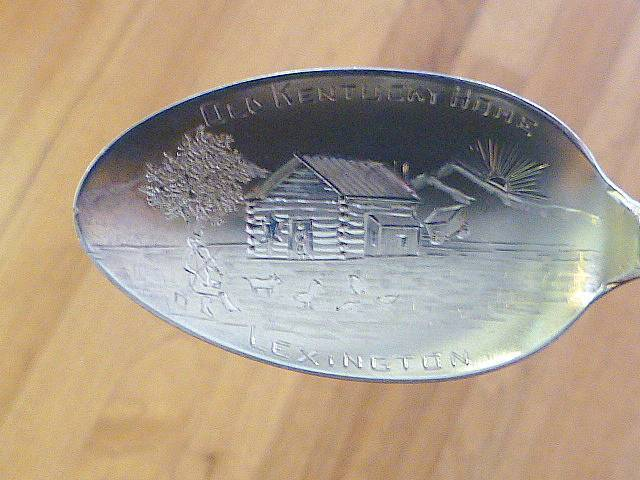Primary image for LEXINGTON KENTYCKY KY Fiddle Player Cabin Sterling Silver Spoon Souvenir