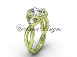 14k yellow gold  engagement ring VD8127 - $1,675.00