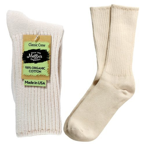 Maggie's Functional Organics - Natural Size 9-11 - Organic Cotton Crew Singles