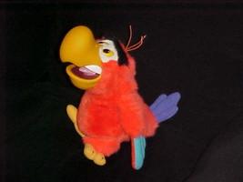 "12"" Disney LAGO Parrot Plush Puppet Toy With Rubber Beak Aladdin Extremely Rare - $140.24"