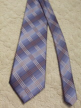 Kenneth Cole New York Men's Neck Tie Silk Blue Grey Tan Brown EUC - $3.99