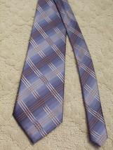 Kenneth Cole New York Men's Neck Tie Silk Blue Grey Tan Brown EUC - $3.99