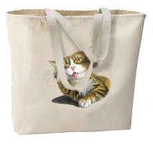 I'm Bored Cat New Oversize Tote Bag Shop Travel Gifts Events Fun - $18.99
