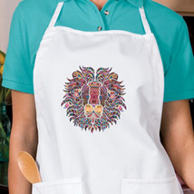 Lion Mosaic New Apron Kitchen Cook Parties Events Gifts Unisex - $19.99