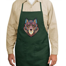 Wolf Mosaic New Apron Kitchen Cook Parties Events Gifts Unisex - $19.99