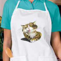 I'm Bored Cat New White Apron Cook Bake Garden Gifts Events - $19.99
