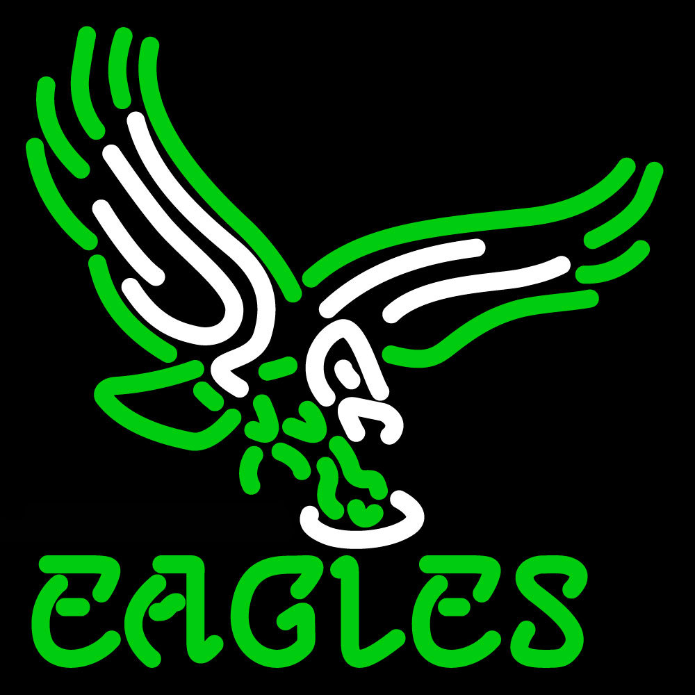 nfl philadelphia eagles logo neon sign neon