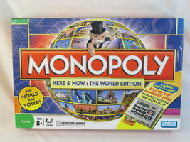 MONOPOLY Here & Now THE WORLD EDITION HASBRO 2008 EXCELLENT CONDITION - $34.53