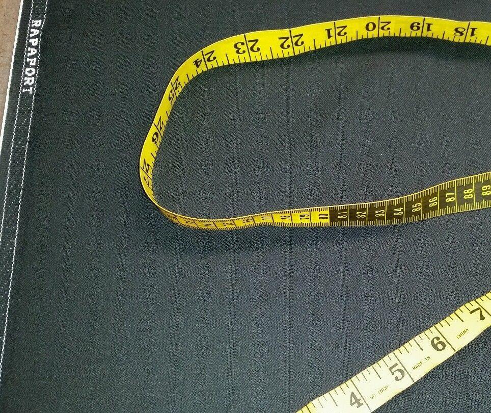 Italian Wool Super 120'S Desinger Suit Fabric 8 Yards Black MSRP $1690