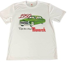 1950 Monarch Ride Like A King Wicking T-Shirt w American Flag Car Coaster - $14.80+