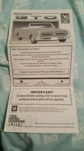 AMT~ERTL~ 1965 Pontiac GTO~ Instructions Only - $7.91