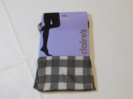 """Claire's Youth Girls Footed Tights S/M 4'10"""" -  5'4"""" / 95 - 125 lbs grey... - $11.08"""