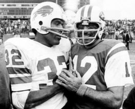 Joe Namath O.J. Simpson Jets Bills Vintage 8X10 BW Football Memorabilia Photo - $6.99