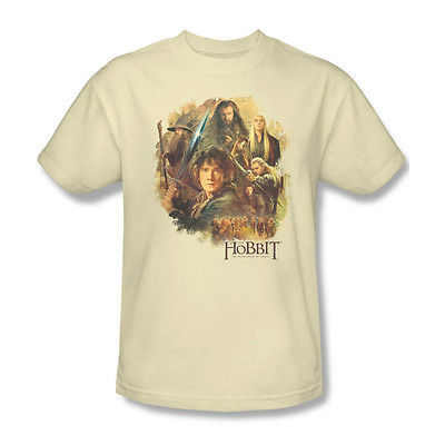 THE HOBBIT T-shirt Lord of the Rings 100% cotton graphic printed tee HOB2001